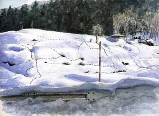 吉田ー立春の足跡